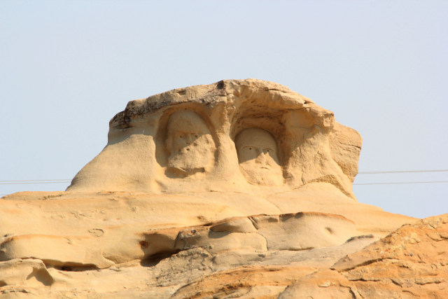 Just on the outskirts of the small town of Edgerton, there are faces carved into the side of a rock.  Locals call it the Rushmore of Edgerton.  I was unable to find out who carved this, how long ago, and why.  I'll have to keep digging.